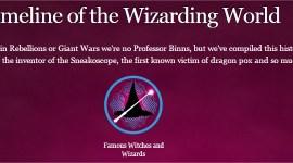 Pottermore Revela Línea Temporal de Magos y Brujas Famosos de todos los Tiempos
