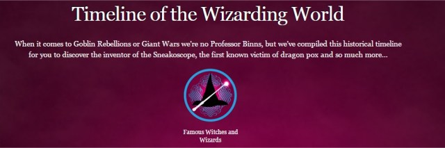 Harry Potter BlogHogwarts Pottermore Linea Temporal