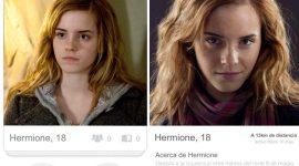 Así sería la cuenta de Tinder de los personajes de Harry Potter