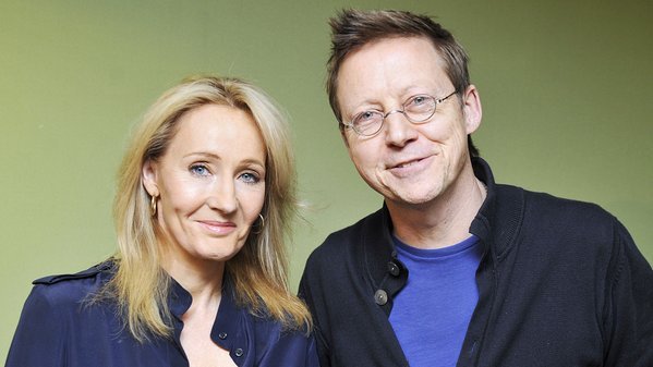 J.K Rowling con Simon Mayo