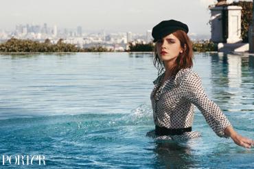 Emma Watson en la portada de la revista Porter