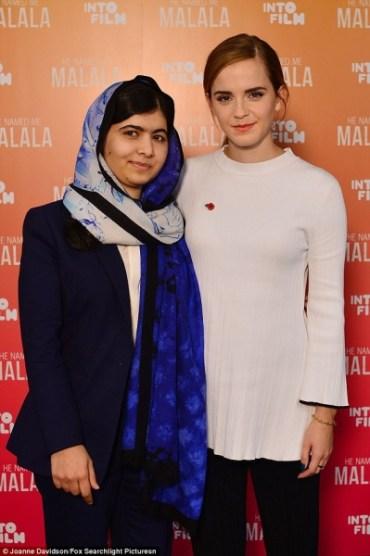 Emma Watson conoce a Malala Yousafzai