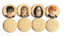 Artista lleva el 'food art' al nivel máximo creando Oreos de Harry Potter