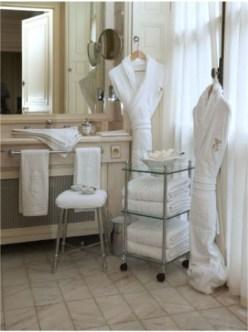Linge salle de bains hotel de Crillon