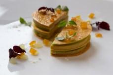 Le Foie gras de Canard-Pomme verte au verjus-gelee de yuzu