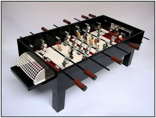 Mesa de totó de Star Wars feita de LEGO