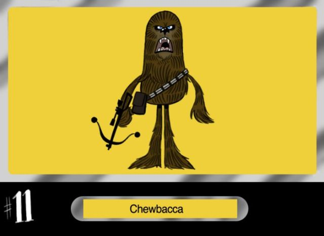 Personagens de Star Wars diferentes e divertidos