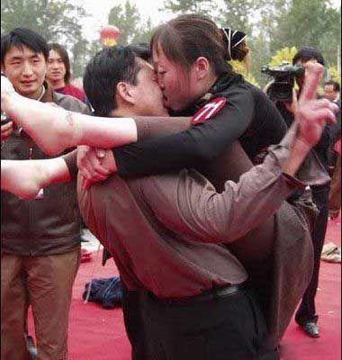 Campeonato de beijos incomuns (ou bizarros)