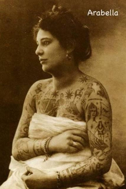 As tatuagens no passado