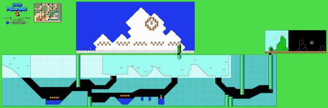 Os mapas dos jogos do Super Mario