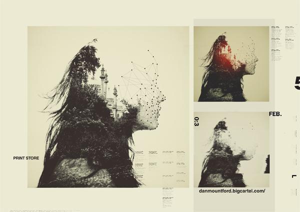 Retratos de dupla exposição