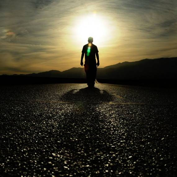 Belas fotografias de silhuetas no pôr do sol