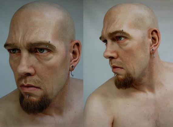Esculturas super realistas de pessoas