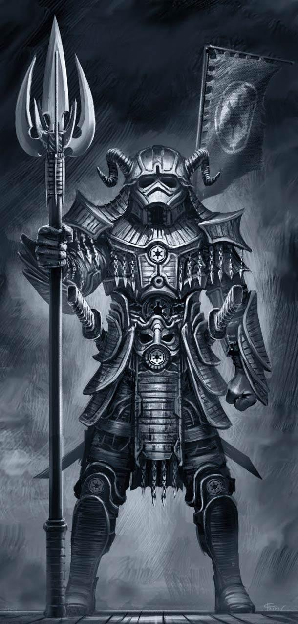 Personagens de Star Wars em versão Samurai