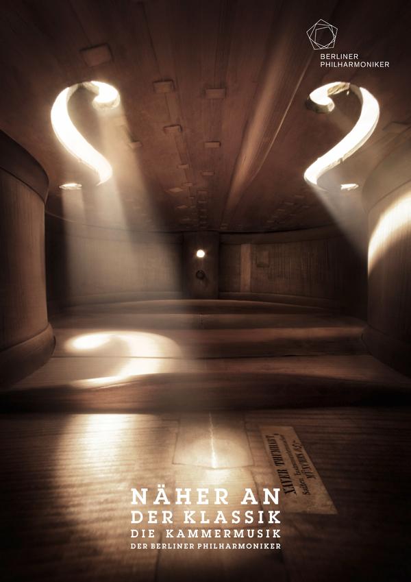 Instrumentos musicais da Orquestra Filarmônica de Berlim vistos de dentro