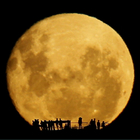 Silhuetas na Lua cheia