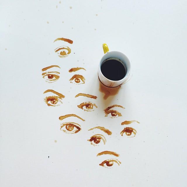 17 desenhos incríveis feitos com comida derramada