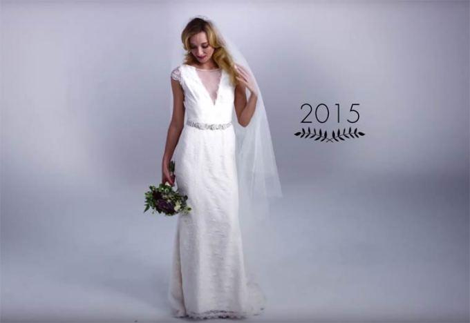 100 anos da evolução dos vestidos de noiva em 3 minutos
