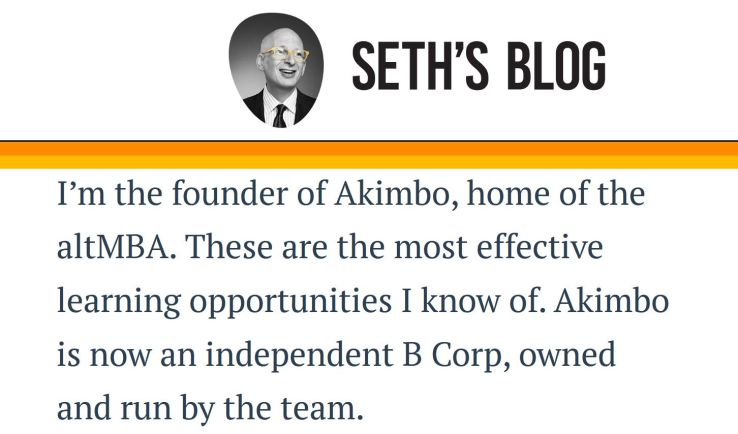 website technology tools used to build Seth Godin blog