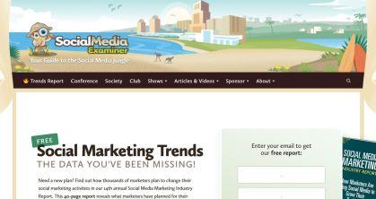 website technology tools used to build social media examiner blog