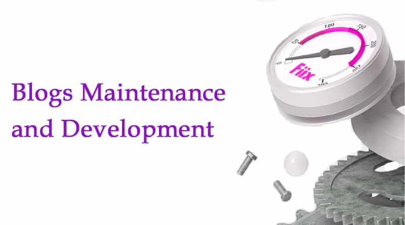 Blogs Maintenance and Development