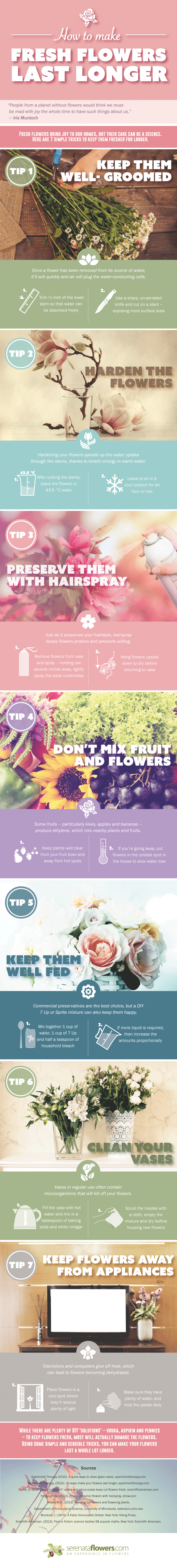 How to Make Fresh Flowers Last Longer  | ecogreenlove