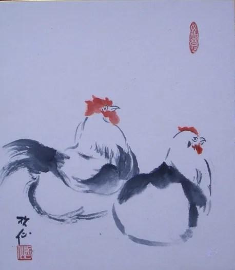 田舎の風景(水墨畫) - 哲仙の水墨畫