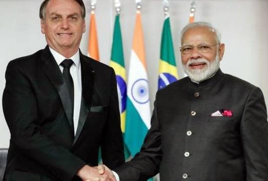 Presidente Jair Bolsonaro e Primeiro Ministro Narendra Modi