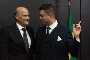 O vice-governador do DF, Paco Britto, prestigiou a cerimônia de posse de Bruno Martins