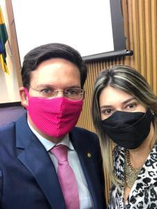 Dani Salomão e Ministro da Cidadania João Roma ( Republicanos).
