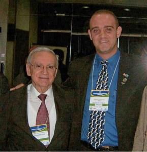 Luiz Fernando Rocha Monteiro e seu amigo Ozires Silva (Foi Ministro da Infraestrutura, Ministro das Comunicações do Brasil e Presidente cofundador da Embraer)
