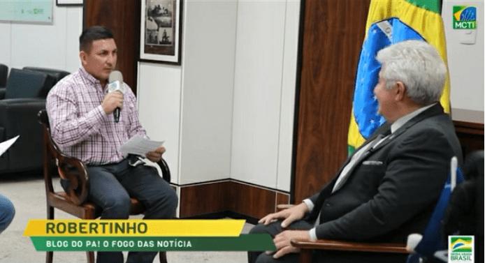 Jornalista Roberto do Portal de Notícias Blog do PÁ