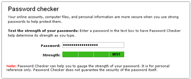 Password checker