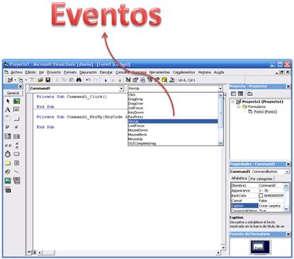 Eventos en Visual Basic