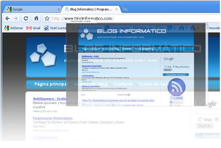 Característica Google Chrome Pestañas dinámicas