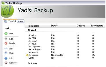 Yadis! Backup