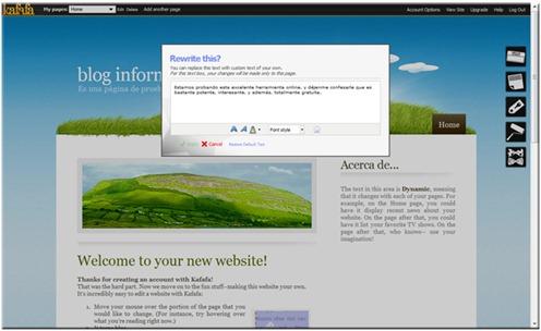 Crear páginas web online - Kafafa