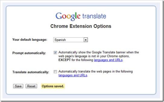 Google Traslate - Extensión Chrome