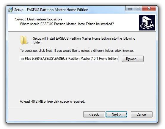 Instalación de EASEUS Partition Master 6
