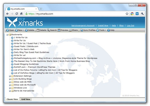 Xmarks Bookmark Sync