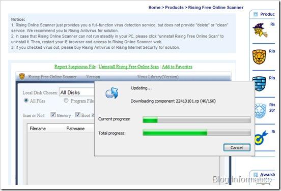 Rising Online Scanner