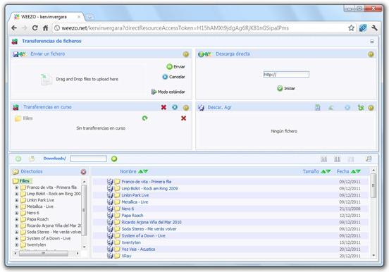 Weezo - Interfaz web