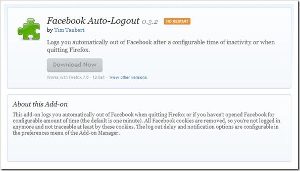 Facebook Auto-Logout