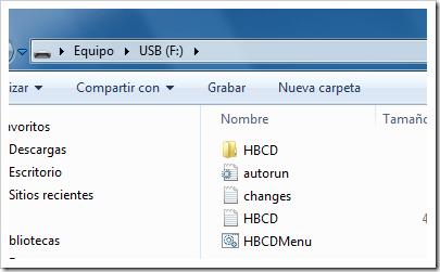 Hirens en USB