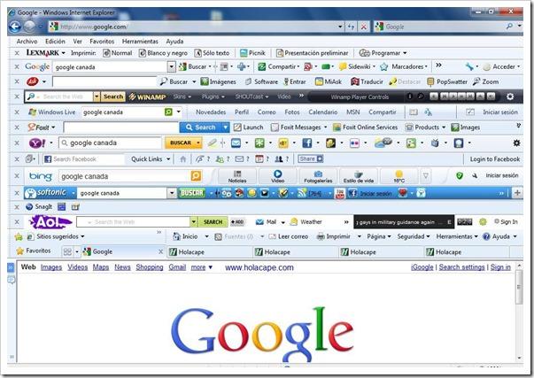 Barra de herramientas - Navegadores web