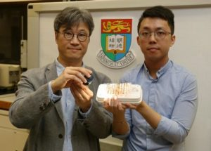 Materiaux d actionnement pour micro robots, declenches par la lumière . Professeur Alfonso Ngan et Dr. Kwan Kin-wa . Credit: Copyright The University of Hong Kong