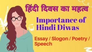 Importance of Hindi Diwas, Poetry Speech Slogan Essay