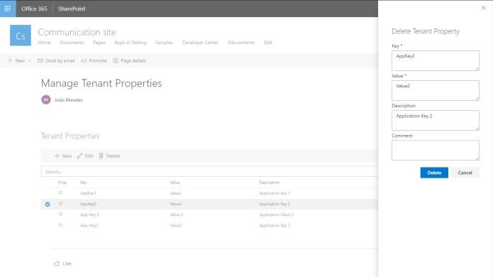 SPFx - Tenant Properties Web Part - Blog IT
