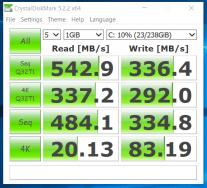 CrystalDiskMark - testare viteza ssd - Dell Latitude E7440
