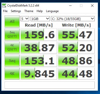 Durabook U12C - test SSD